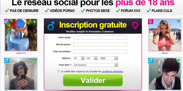inscription reseau social sexy